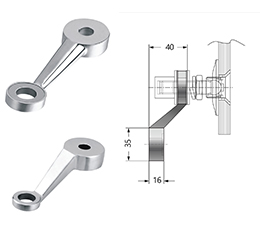 Single Arm Heavy Duty Post Mount Fitting