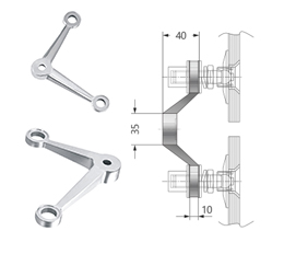 Double Arm V Heavy Duty Post Mount Fitting.jpg